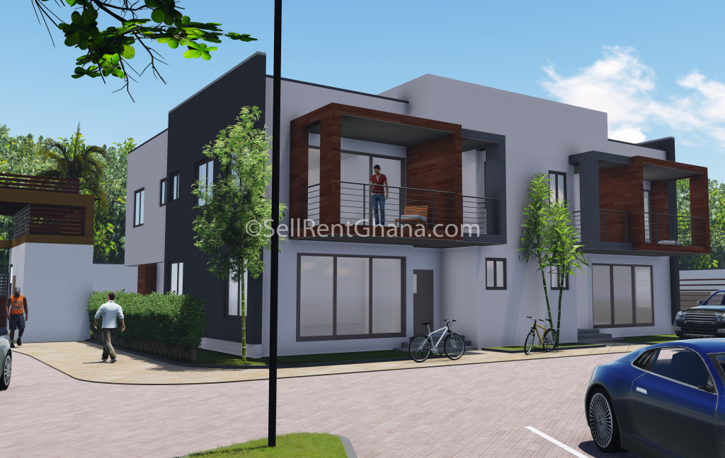 3 4 bedroom luxury townhouse selling sellrent ghana for Four bedroom townhouse